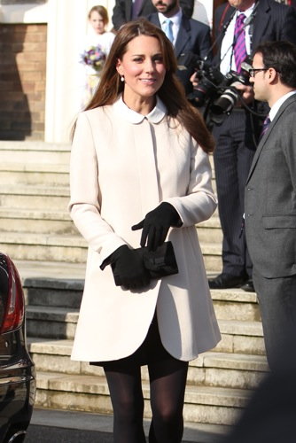 Catherine, Duchess of Cambridge and Prince William, Duke of Cambridge arrive at the The Clare Foundation
