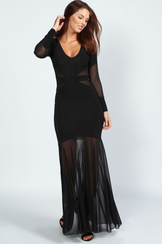 Faye Fishtail Maxi Dress Product code: azz43126 £25.00 click to visit Boohoo