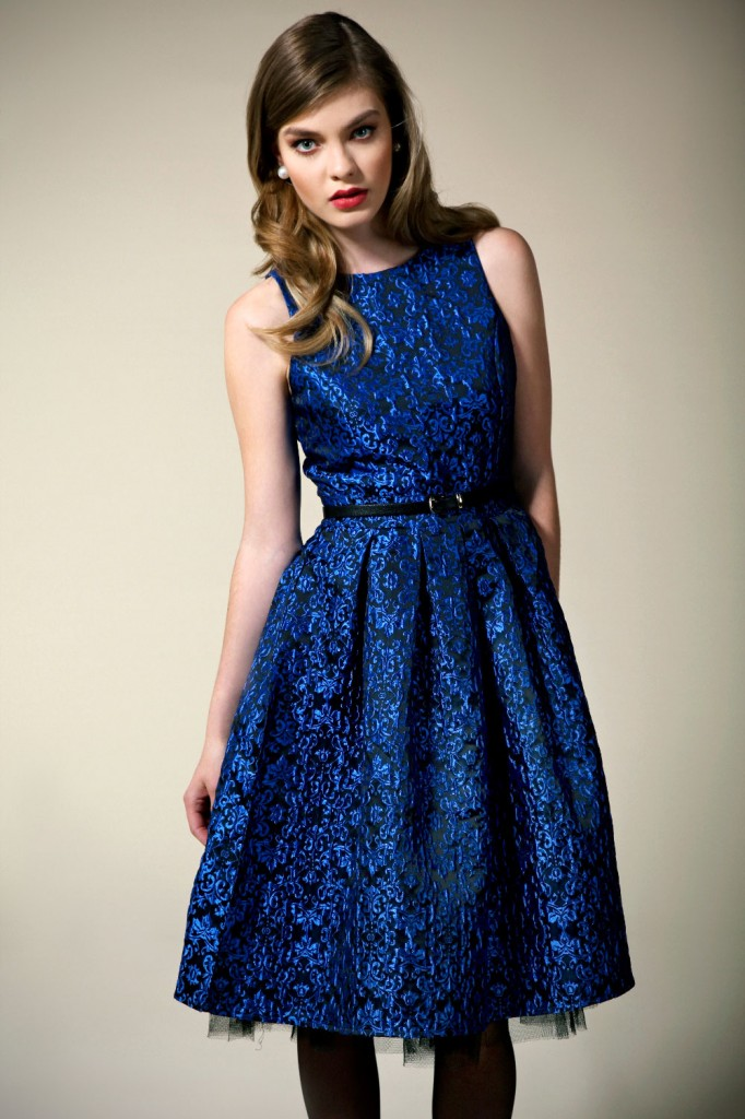 Boutique Billie Brocade Floral Pleat Skirt Prom Dress Product code: azz46273 £40.00 click to visit Boohoo