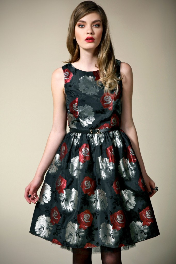 Boutique Lily Rose Brocade Full Skirt Prom Dress Product code: azz46392 £35.00 click to visit Boohoo