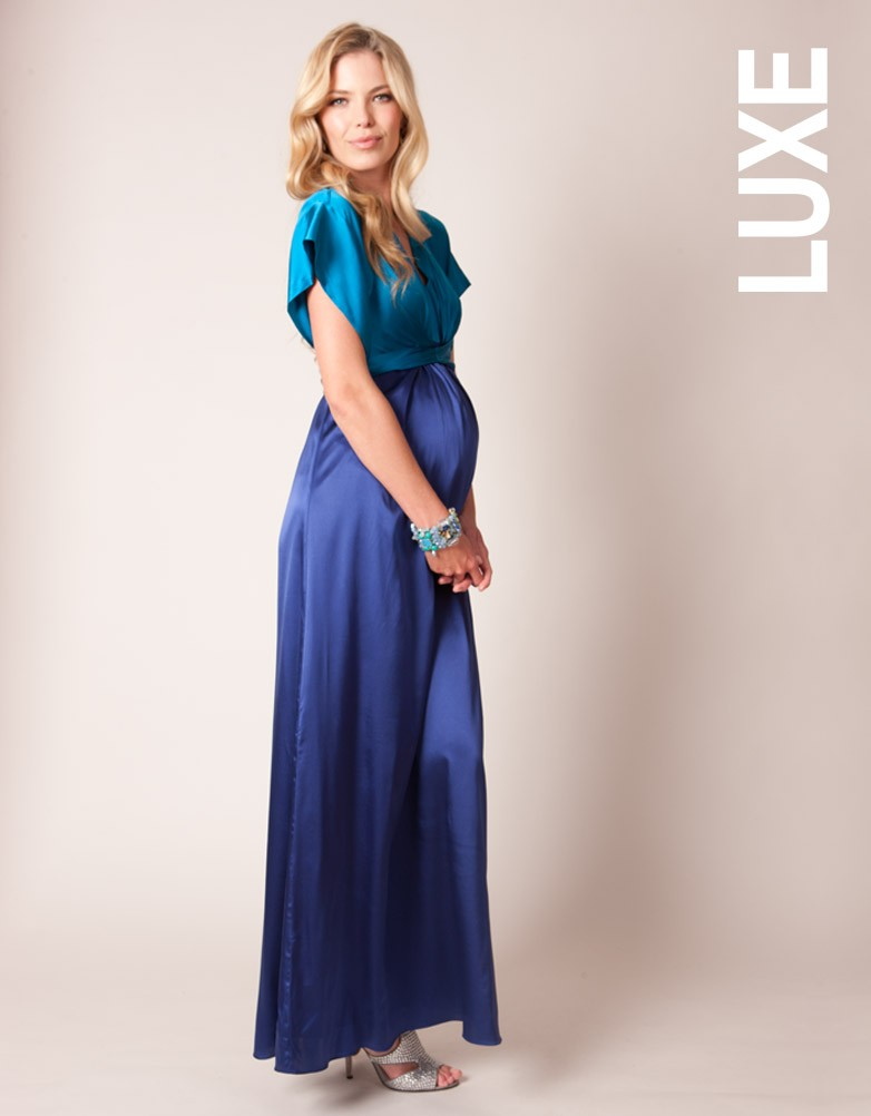 Colour Block Silk Maxi Gown £225.00 click to visit Seraphine