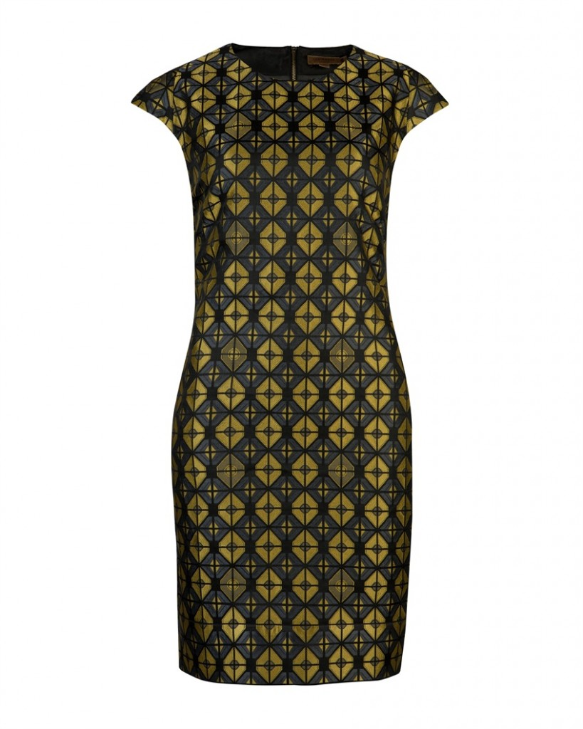 CORRNAD - Geo jacquard dress - £169 click to visit Ted Baker