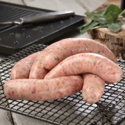 Hand Made Thick Pork & Leek Sausage - 400g £3.50 click to visit County Valley