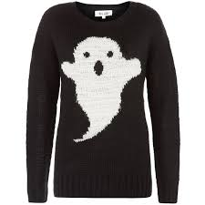 Black ghost knitted jumper £22.99 click to visit New Look