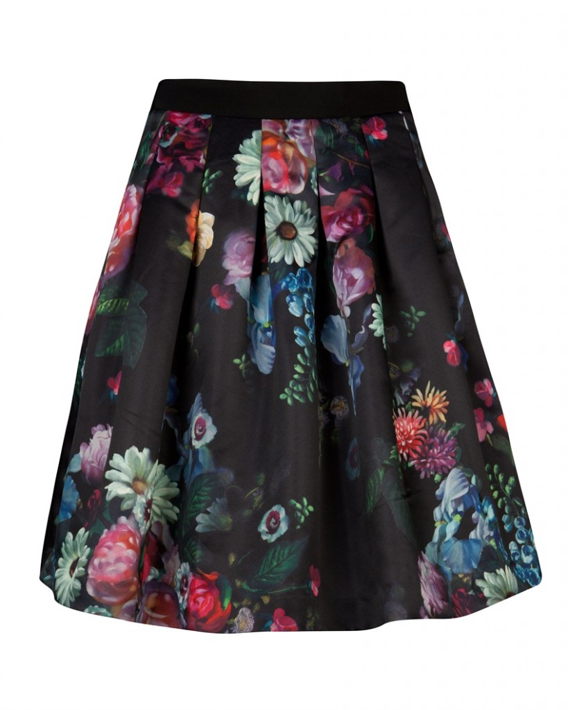 FLOWTII - Oil painting printed skirt - £129 click to visit Ted Baker