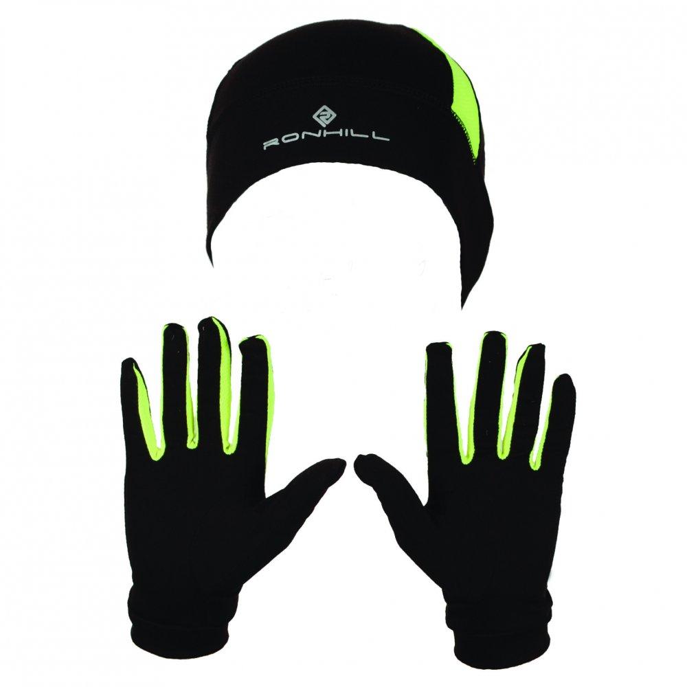 Ron Hill Beanie & Glove Set Black £18 click to visit Tony Pryce