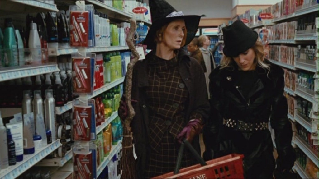 Carrie and Miranda getting ready for Halloween.