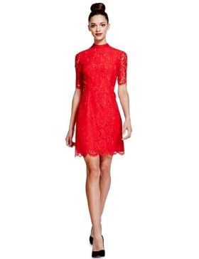 Limited Edition Baroque Lace Fit & Flare Dress £59 click to visit M&S