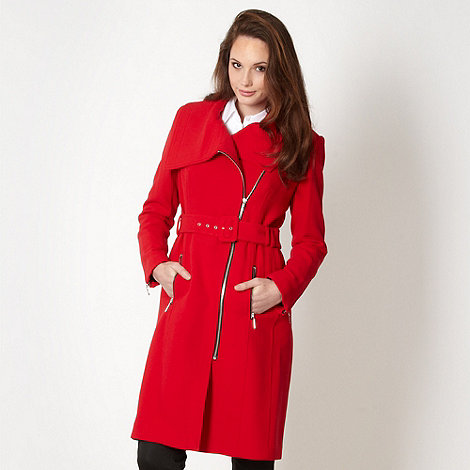 Preen/EDITION Designer red oversize collar coat £120 click to visit Debenhams