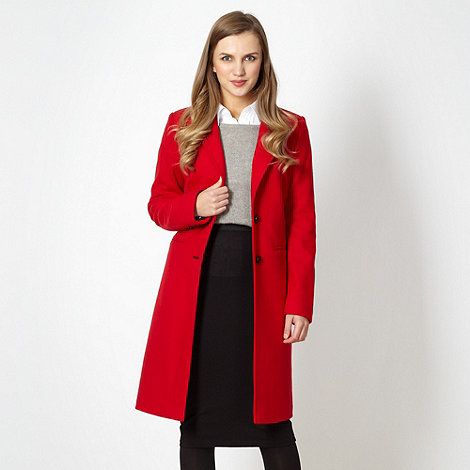 Designer red button coat £116.25 click to visit Debenhams