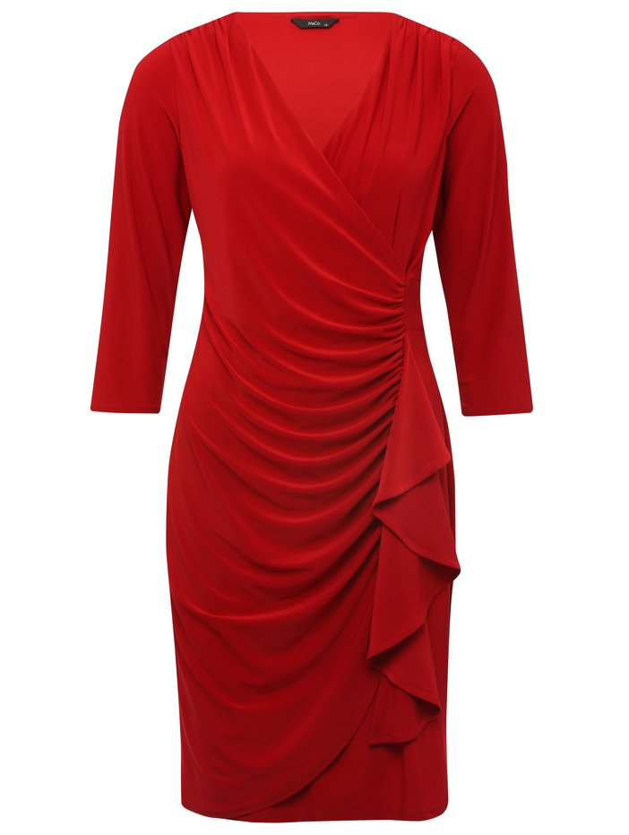 Ruffle front wrap dress £37 click to visit M&Co