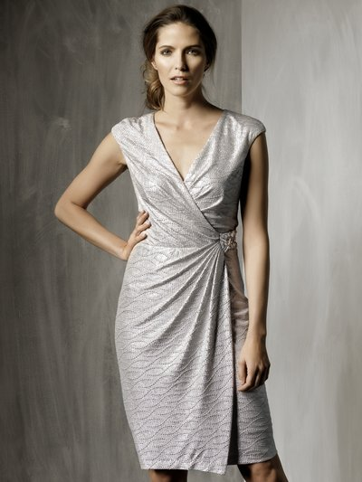 Silver crepe wrap dress £69 click to visit M&Co