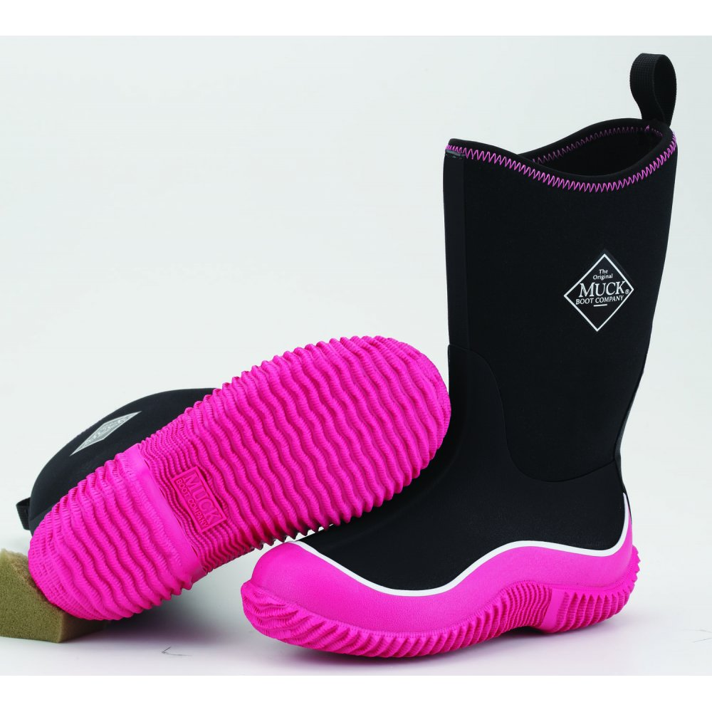 The Muck Boot Company Kids Hale Pink/Black, The Original Neoprene lined wellie - for KIDS! £54.95 click to visit JellyEgg