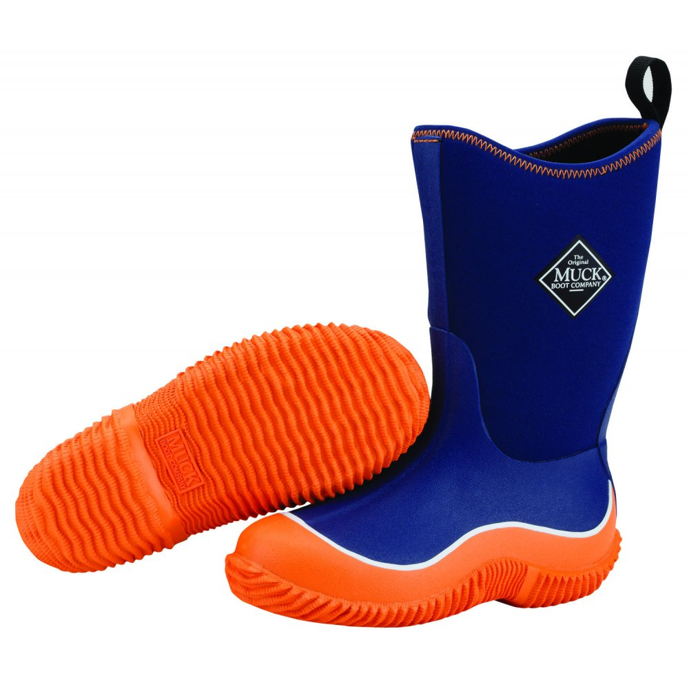 The Muck Boot Company Kids Hale Orange/Navy, The Original Neoprene lined wellie - for KIDS!  £54.95 click to visit Muck Boots