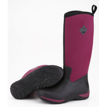 The Muck Boot Company Arctic Adventure Plain Black/Maroon, lightweight, fleece lined neoprene winter welly £99.95 click to visit JellyEgg