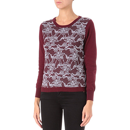 IZZUE I.T lace-panel jumper     £70.00 click to visit Selfridges