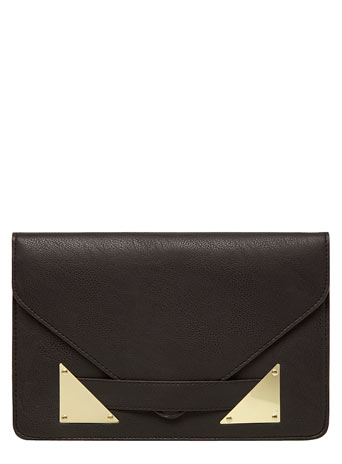 Black envelope clutch     Price: £10.00 click to visit Dorothy Perkins