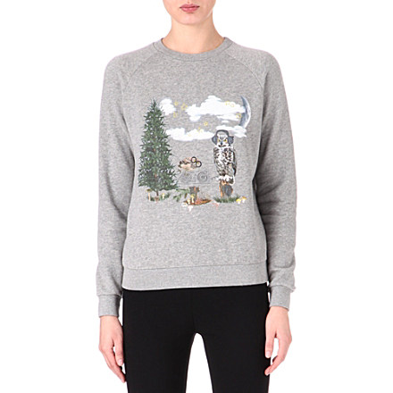 STELLA MCCARTNEY Owl Christmas sweatshirt     £170.00 click to visit Selfridges
