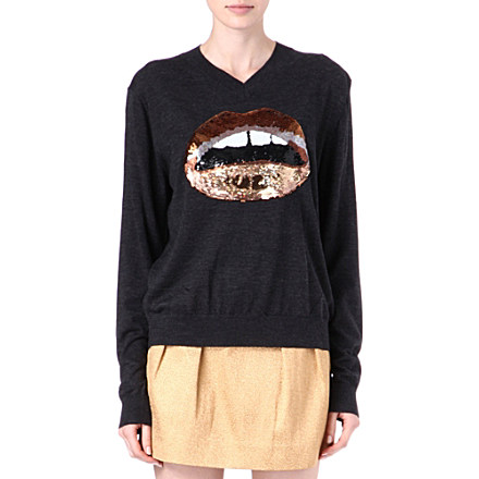 MARKUS LUPFER Lips sequinned jumper     £315.00 click to visit Selfridges
