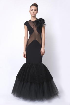 Dress - Qusi - Black £2980 click to visit Carnet de Mode