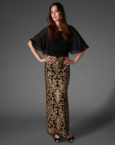Noto Full Length Sequin Dress £350.00 click to visit Phase Eight