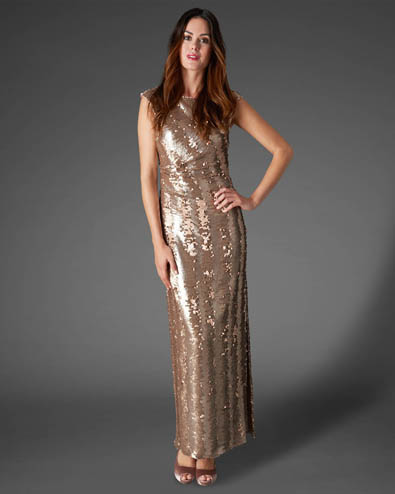 Aretta Sequin Full Length Dress £295.00 click to visit Phase Eight