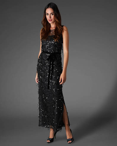 Elecktra Sequin Full Length Dress £275.00 click to visit Phase Eight