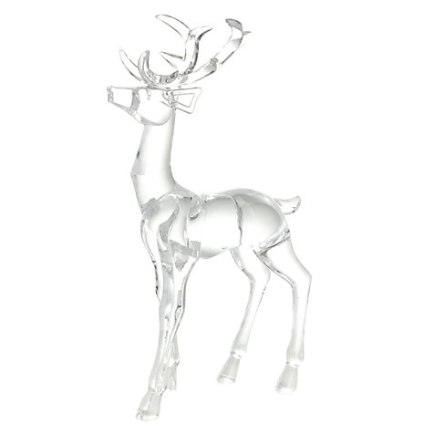 John Lewis Clear Acrylic Reindeer, Small £18 click to visit John Lewis