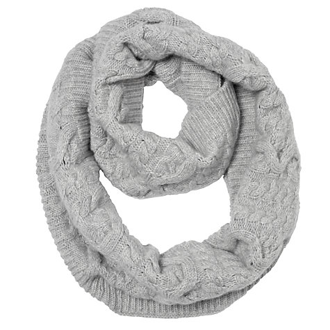 Somerset by Alice Temperley Cashmere Cable Snood, Light Grey  £75 click to visit John Lewis