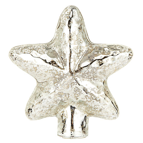 John Lewis Mercurised Star Tree Topper £12 click to visit John Lewis