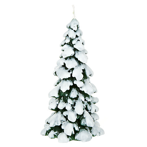 John Lewis Green Snowcapped Tree Candle £4 click to visit John Lewis
