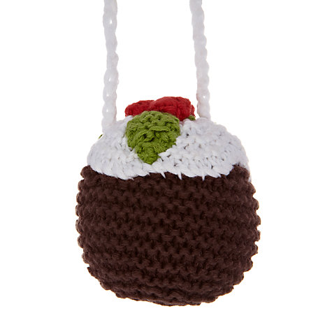 Best Years Crochet Christmas Pudding Tree Decoration £3.50 click to visit John Lewis