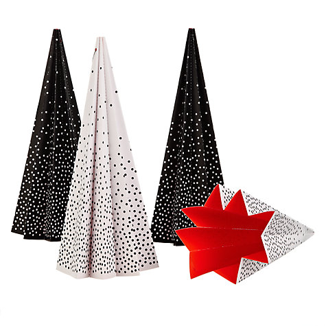 Livingly Pleated Christmas Tree, Set of 4 £12 click to visit John Lewis