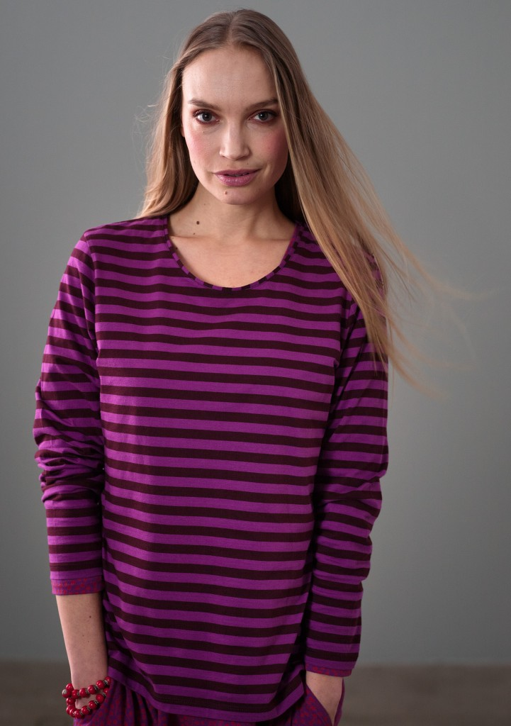 Essential striped cotton top £45 click to visit Gudrun Sjoden