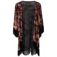 Wine Devore Tassel Kimono £20 click to visit Select