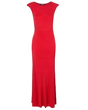 Stud Shoulder Maxi Dress Was £22.00 Now £15.00 click to visit George at Asda