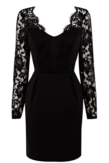 Amber Lace Sleeve Dress £85.00 click to visit Oasis