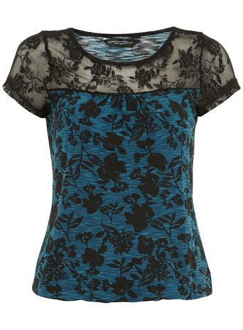 Floral mesh sleeve bubble tee     Price: £16.00 click to visit Dorothy Perkins