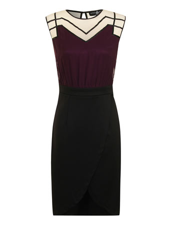Mesh piping wrap 2 in 1 dress     Price: £50.00 click to visit Dorothy Perkins
