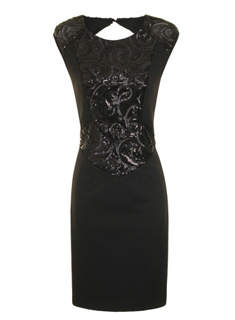 Black panel bodycon dress     Price: £55.00 click to visit Little Mistress