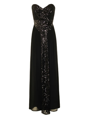 Black bandeau maxi dress     Price: £75.00 click to visit Dorothy Perkins