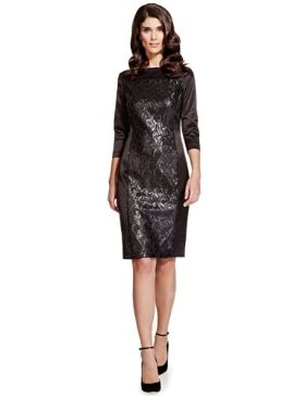 Per Una Speziale Sequin Embellished Panelled Shift Dress £99 click to visit M&S