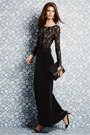 Black Velvet Maxi Dress £88 click to visit Next