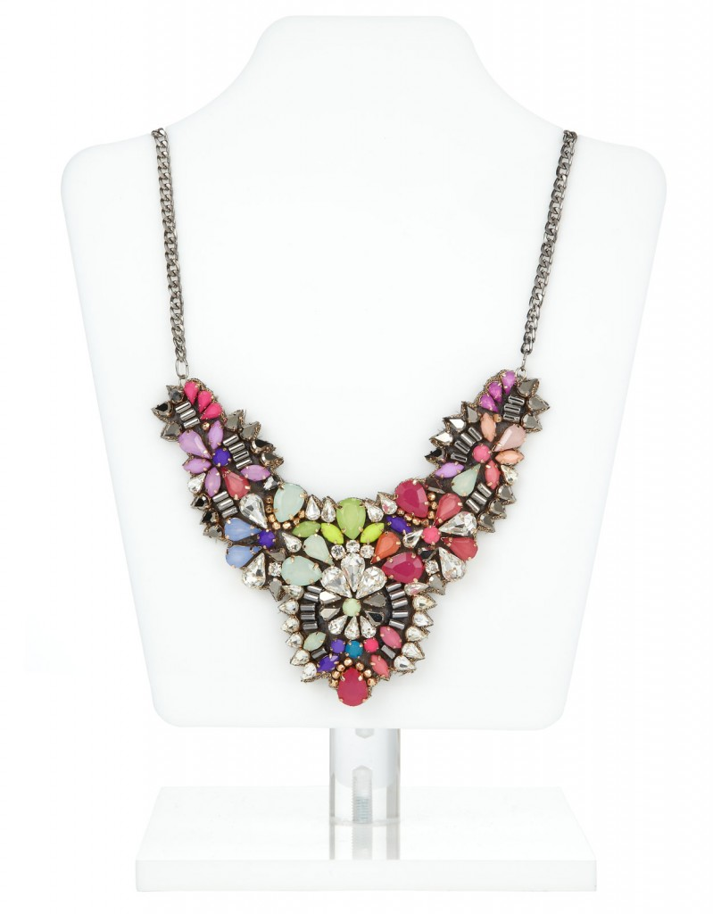Rainbow Jewel Statement Necklace £29 click to visit Accessorize