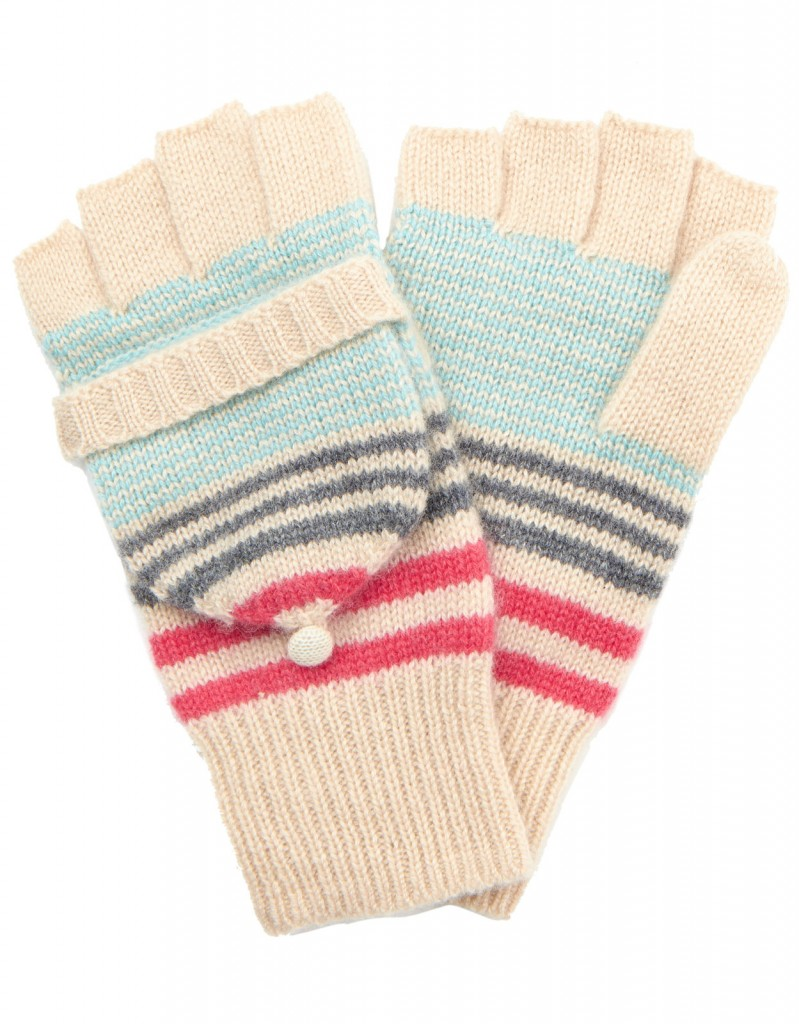Verona Cashmere Blend Stripe Capped Glove £27 click to visit Accessorize