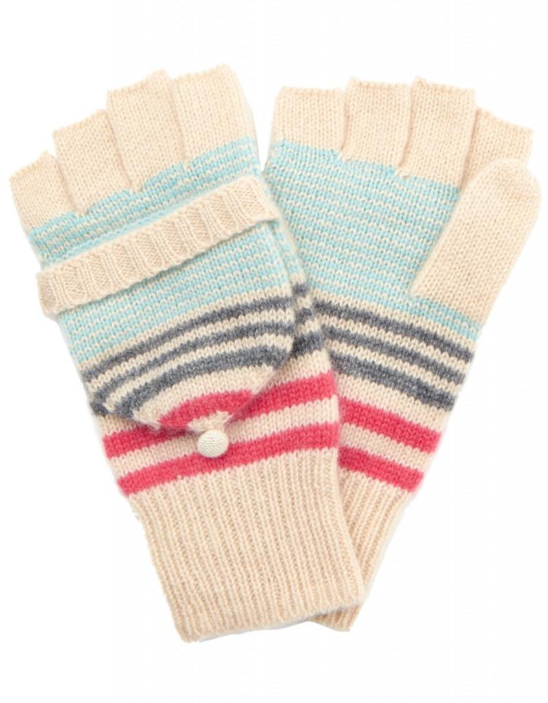 Verona Cashmere Blend Stripe Capped Glove £27 click to visit Accessorize