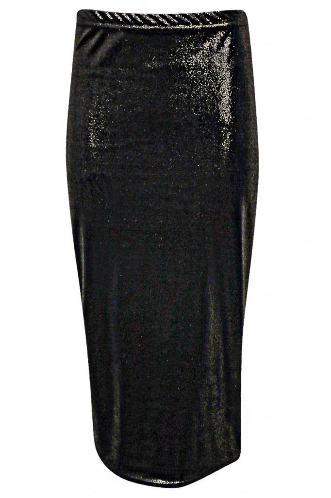 Mindy Glitter Velvet Midi Skirt £10 click to visit Boohoo