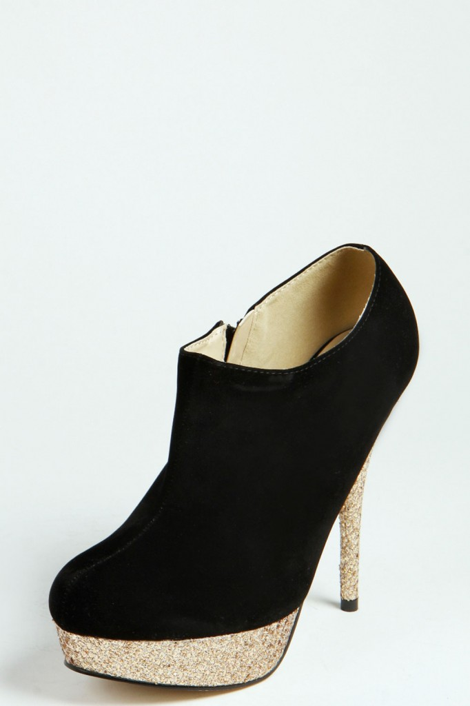 Saskia Shimmer Platform Contrast Shoe Boots Product code: azz38966 £18 click to visit Boohoo
