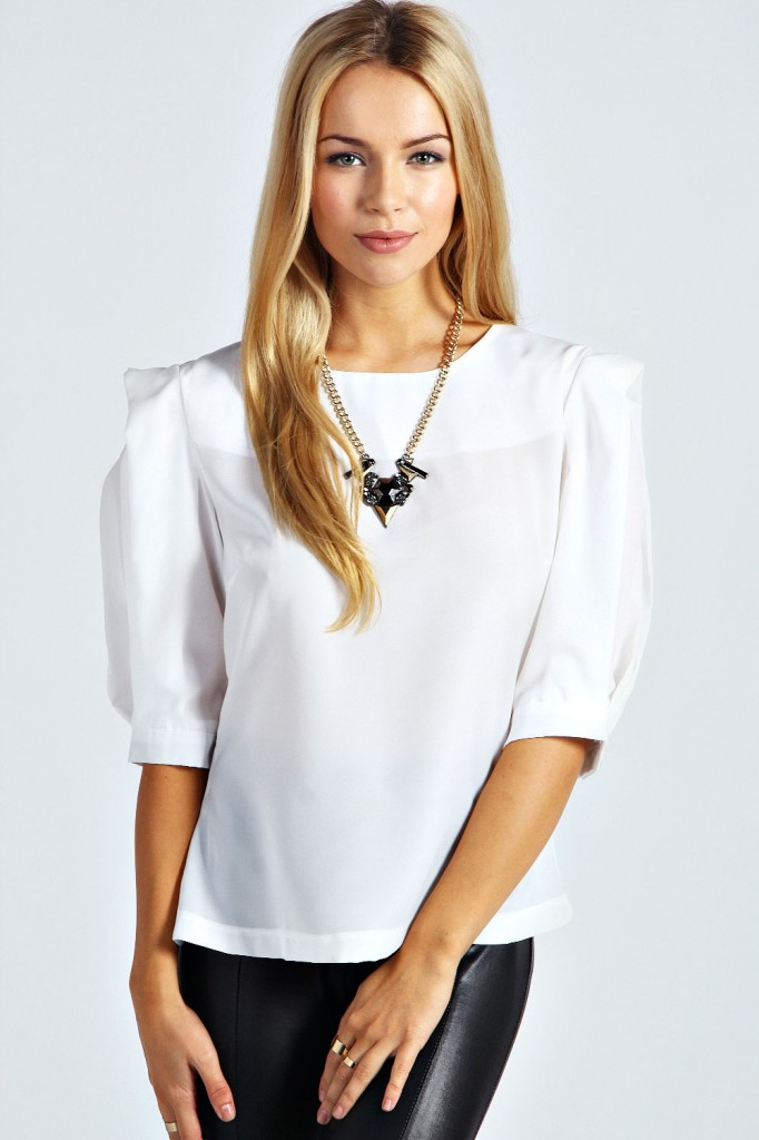 Amy Exaggerated Sleeve Blouse £16 click to visit Boohoo