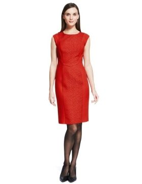 Autograph Faux Reptile Skin Textured A-Line Dress £69 click to visit M&S